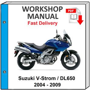 SUZUKI DL650 V-STROM 2004 2005 2006 2007 2008 2009 SERVICE REPAIR SHOP MANUAL