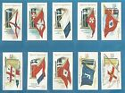 Ogdens cigarette cards - FLAGS & FUNNELS OF LEADING STEAMSHIP LINES - Full set