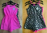Girls 2 Pack Strappy Pink Cotton Summer Holiday Beach Shorts Playsuits 5/6 6/7