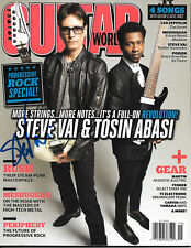 Steve Vai Signed Guitar World Magazine Ibanez Jem Guitar Namm (David Lee Roth)