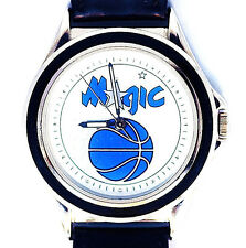 Orlando Magic NBA, Fossi/Relicl Unworn Mans Vintage 1996 Leather Band Watch! $89