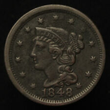 1848 Braided Hair Large Cent - Xf Details