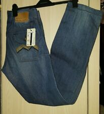 STYLE CLASH ENERGIE CONNELLY DESIGNER BLUE DENIM JEANS BY SIXTY ITALY. RRP. £95.