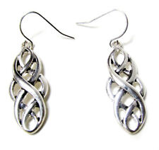Woven Fashion Silvertone Earrings FAST USPS PICK UP ON THIS ITEM !!!