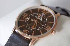 B-Ware: Schweizer Uhr, SWISS MILITAIRE Round H318PM, braun,ultraflach