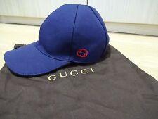 GUCCI Men's Cap/Cappello-blu - * BNWT * - Taglia media-con le ricevute!