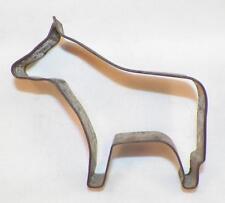Vintage Tin Cookie Cutter Horse Folk Art No Open Back #21