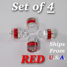 SET OF 4 DIAMOND LED fishing lights, RED, deep drop, swordfish, FREE SHIP, USA