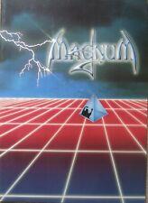 Magnum 1985 UK Tour Programme, 13.5 x 9.5 Inches
