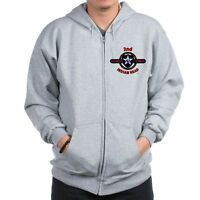 2ND INFANTRY DIVISION CAMPAIGNS  2-SIDED LEFT CHEST/BACK EMBLEM ZIPPER HOODIE