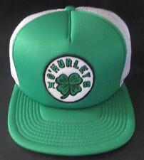 MENS HURLEY SHAMROCK CLOVER GREEN SNAPBACK HAT ADJUSTABLE CAP ONE SIZE