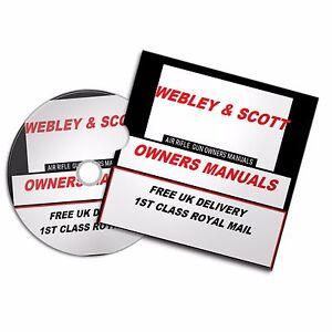 WEBLEY SCOTT AIRGUN RIFLE OWNERS MAN OWNERS USER  MANUALS BOOKS Disc  #Airrifle