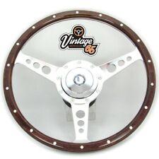 """Fiat 124 126 128 Classic 14"""" Wood Rim Steering Wheel & Fitting Boss Horn Kit"""
