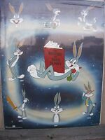 """BUGS BUNNY History Vintage 1987 Poster 22"""" x 28"""" New In Original Shrink Wrap"""