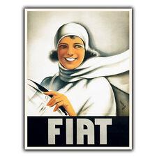 Fiat voitures rétro vintage vieux pub métal mural signe plaque poster print