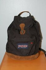 Vintage JANSPORT Backpack Leather Bottom Cinch/Drawstring - Made in USA