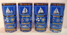 New listing Mcm Retro Nautical Sailboat Fishing Yacht Club - 12oz Highball Glass - Set of 4