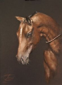 pastel paper miniature horse drawing