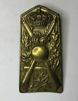 WW2 Italian Army Infantry  Brass shoulder Plate Badge Missing 2 lugs