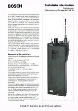 Bosch Kleinstsprechfunkgerät FuG 10, orig. Prospekt