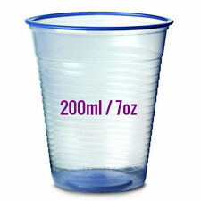Disposable Cups 200ml / 7oz - 100pc | Blue | RECYCLABLE | FREE UK DELIVERY