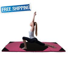 "Folding Mat Thick Foam Fitness Exercise Gymnastics Panel Gym Workout 4'x10'x2"""