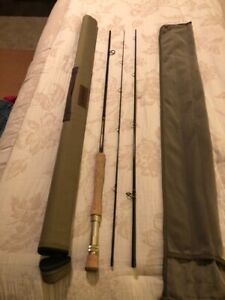 G Loomis CrossCurrent 9 foot 8 weight 3 piece Fly Rod - Mint condition!
