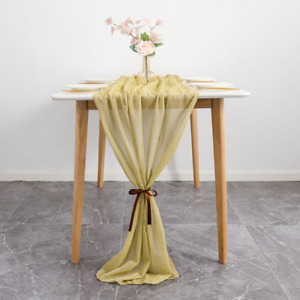 70x300cm Chiffon Table Runners European-American Style Wedding Party Decorations