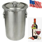 5 Gallon Brewing Kettle 1.2mm 304 Stainless Steel Beer Wine Pot Brew Kettle USA
