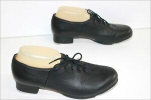 Bloch Shoes Of Dance Tap Dance Shoes Lace Black Leather T 9.5/39 Top Condition