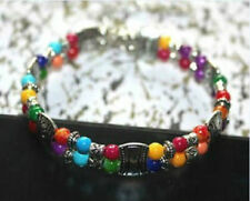 039 Tibetan silver jewelry Multi-color Bead Bracelets