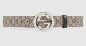 Gucci GG Supreme Belt G Buckle Size 90 Authentic Completed Original Packaging