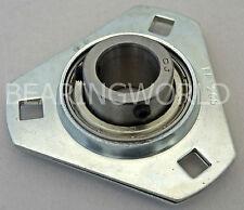 SBPFT205-25MM NEW 25mm Set Screw Pressed Steel Triangle 3-Bolt Flange Bearing
