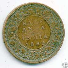 INDE britannique  1/2 anna 1862