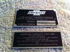 CHEVY TRUCK INFO PLATE & CAP 26 1927 1928 1929 1930 1931 1932 1933 1934 1935