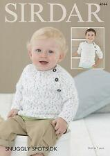 7f3c2c37af44c4 Sirdar 4744 Knitting Pattern Baby   Childrens Sweaters in Snuggly Spots DK