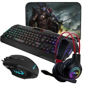 Sumvision Kane Pro 4-in-1 Gaming Bundle Set - Mouse, Mat, Keyboard & Headset