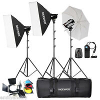 Neewer 540W (180W x 3) Studio Flash Strobe Monolight Umbrella Softbox Kit