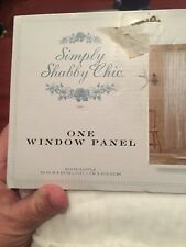 "SIMPLY SHABBY CHIC WHITE RUFFLE 54""x84"" ONE WINDOW PANEL NEW"