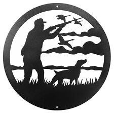 "SWEN Products GOOSE DUCK HUNTER Steel 12"" Scenic Art Wall Design"