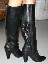 STEVE MADDEN SABBY BLACK LEATHER BOOT SIZE 6
