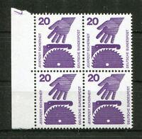 Bund 696 postfrisch DZ 7 Viererblock VB Druckerzeichen MNH