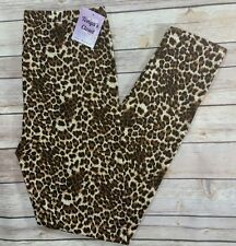 PLUS Size Cheetah Leopard Print Leggings Animal Print Brown Soft Curvy Plus