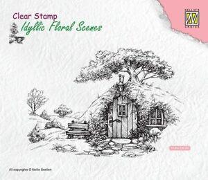 Motiv-stempel Clear stamp house Haus Idyllic Floral Scene Nellie Snellen IFS012