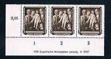 DDR, 586 DV, Gemälde II 1957, 5 Pfg. mit Druckvermerk,** DV LUXUS