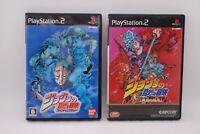 PS2 Software JoJo's Bizarre Adventure Phantom Blood & Golden Wind 2Games Japan