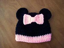 Crochet Minnie Mouse Hat 0-6 Months Baby Infant Disneyland Disney World Beanie