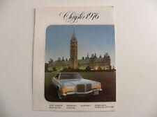Brochure CHRYSLER 1976 en français pour le Canada