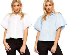 Maglie e camicie da donna multicolore in cotone con colletto classico