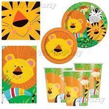 Jungle Safari Zoo Animals Birthday Girls Boys Party Supplies Tableware